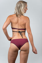 Load image into Gallery viewer, Savanna Black-Wine Top - Kiwi Elite Swimwear
