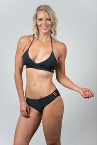 Savanna Black-Wine Top - Kiwi Elite Swimwear