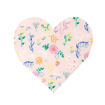 Wildflower Heart Paper Napkins / Set of 20