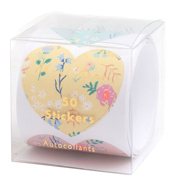 Wildflower Heart Sticker Roll
