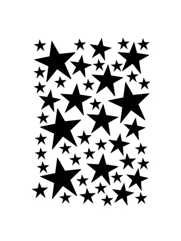 Mini Stars Wallstickers / Black