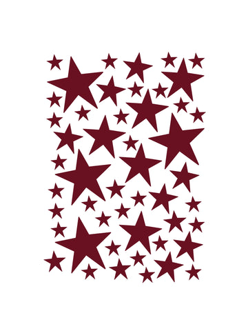 Mini Stars Wallstickers / Red