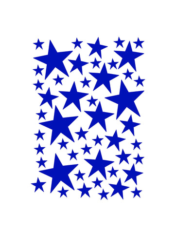 Mini Stars Wallstickers / Blue