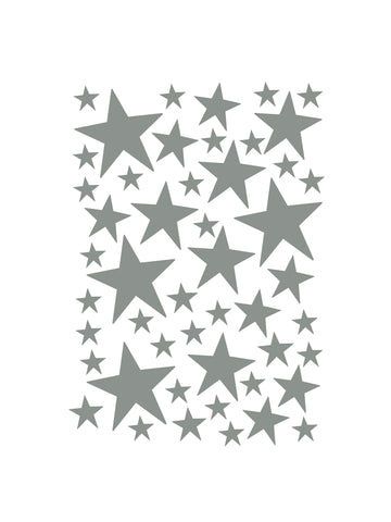 Mini Stars Wallstickers / Grey