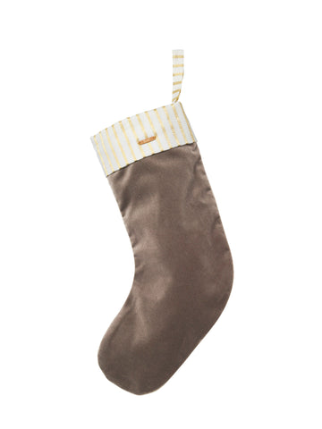 Christmas Stocking Velvet / Grey