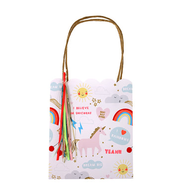 Rainbow & Unicorn Party Bags / Set of 8