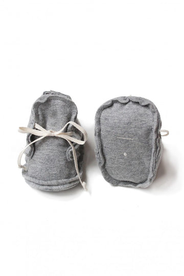 Baby Raw Edged Booties / Grey Melange