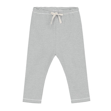 Baby Leggings / Grey Melange Cream Stripe