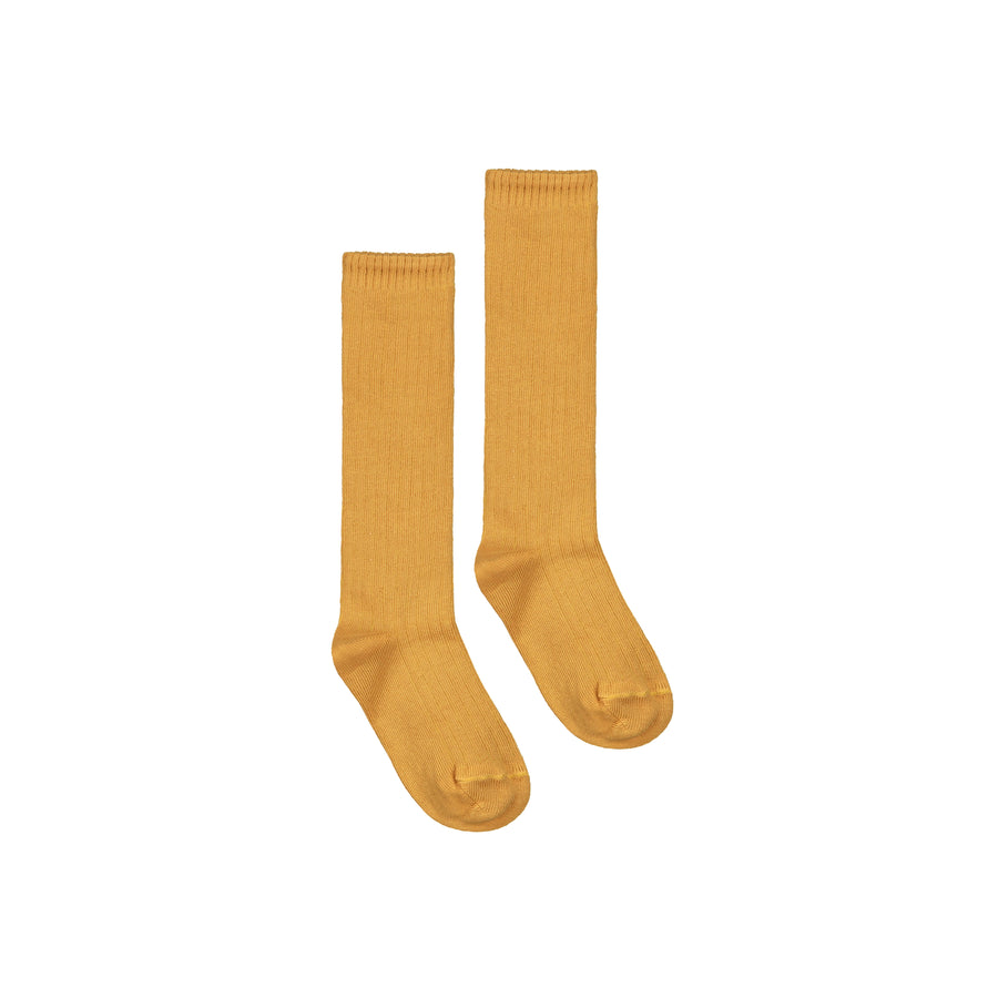 Long Ribbed Socks / Mustard