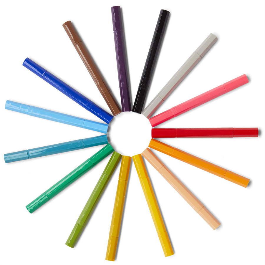 Washable Double Pointed Markers / Set of 15