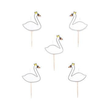 Swan Candles / Set of 5