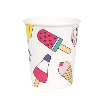 Ice Cream Paper Cups / Set of 8