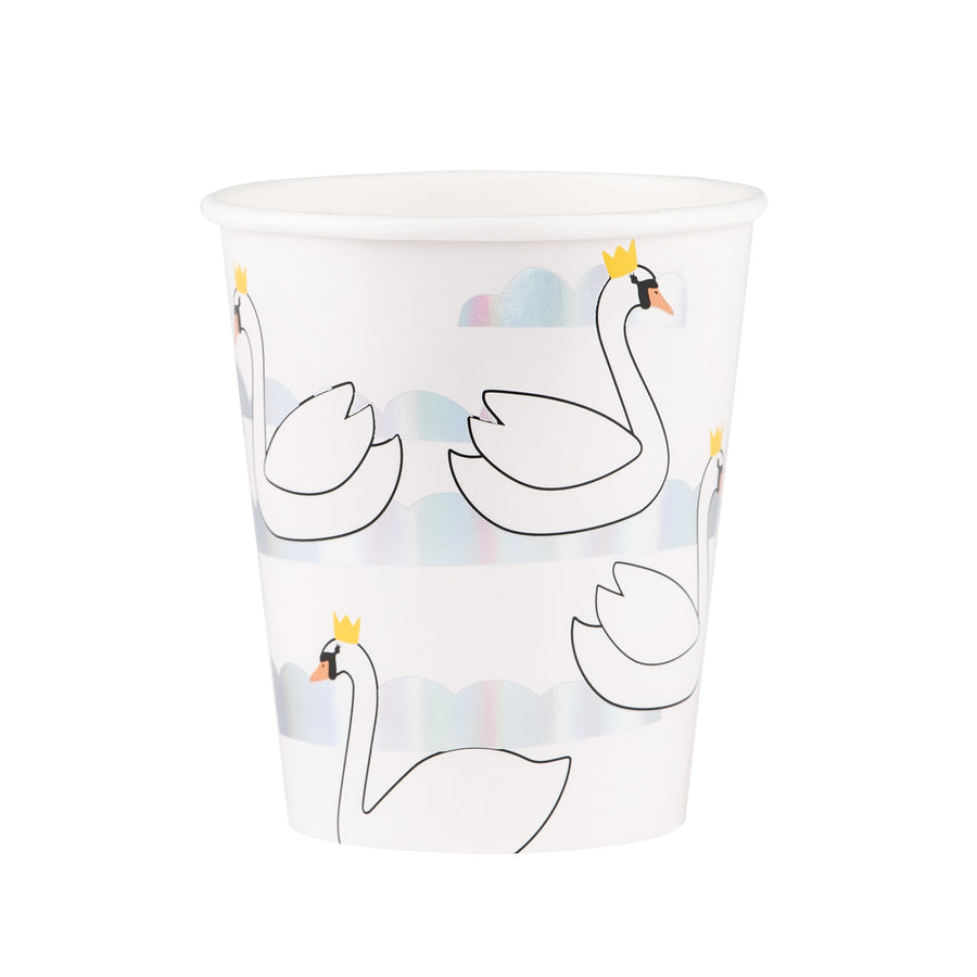 Swan Paper Cups / Set of 8
