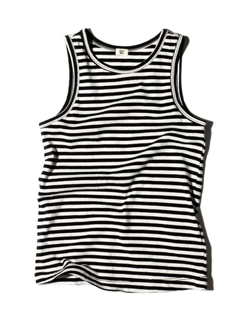 Striped Unisex Tank / Black