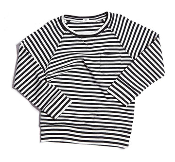 Striped Raglan Sweatshirt