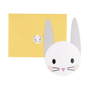Mini Rabbit Invitations / Set of 8