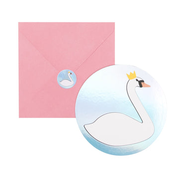 Swan Invitations / Set of 8