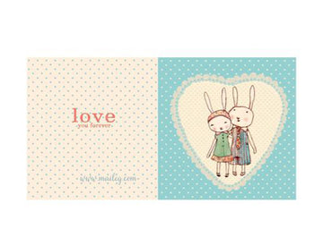 Bunnies In Love / Card
