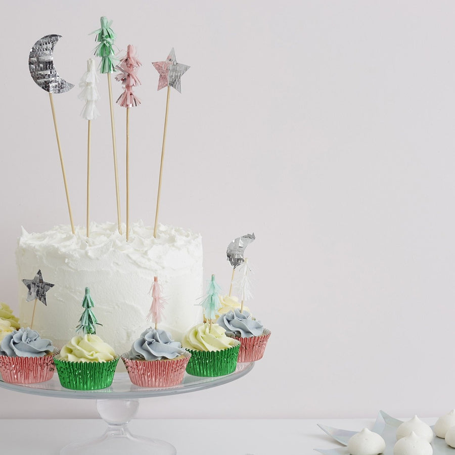 Festive Tree Cake Toppers