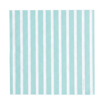 Aqua Stripes Paper Napkins / 20 Count