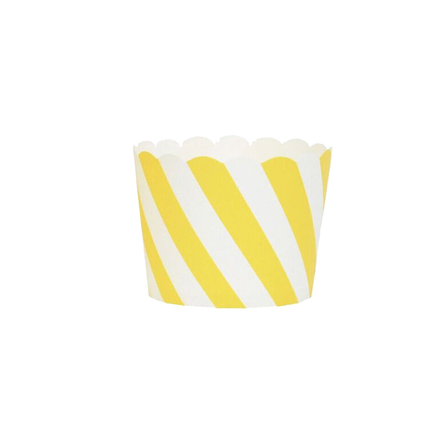 Yellow Stripes Cupcake Liners / Pack of 25