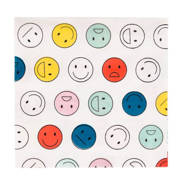 Happy Faces Paper Napkins / 20 Count