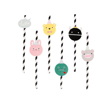 Noodoll Paper Straws / 12 Count