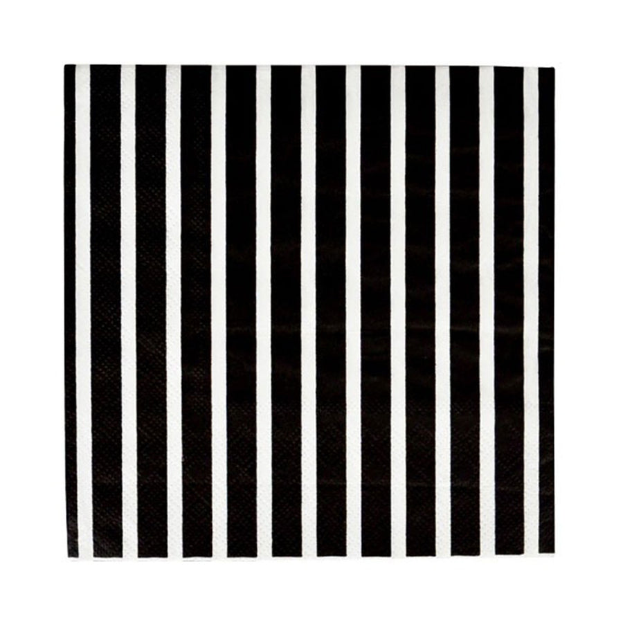 Black Stripes Paper Napkins / 20 count