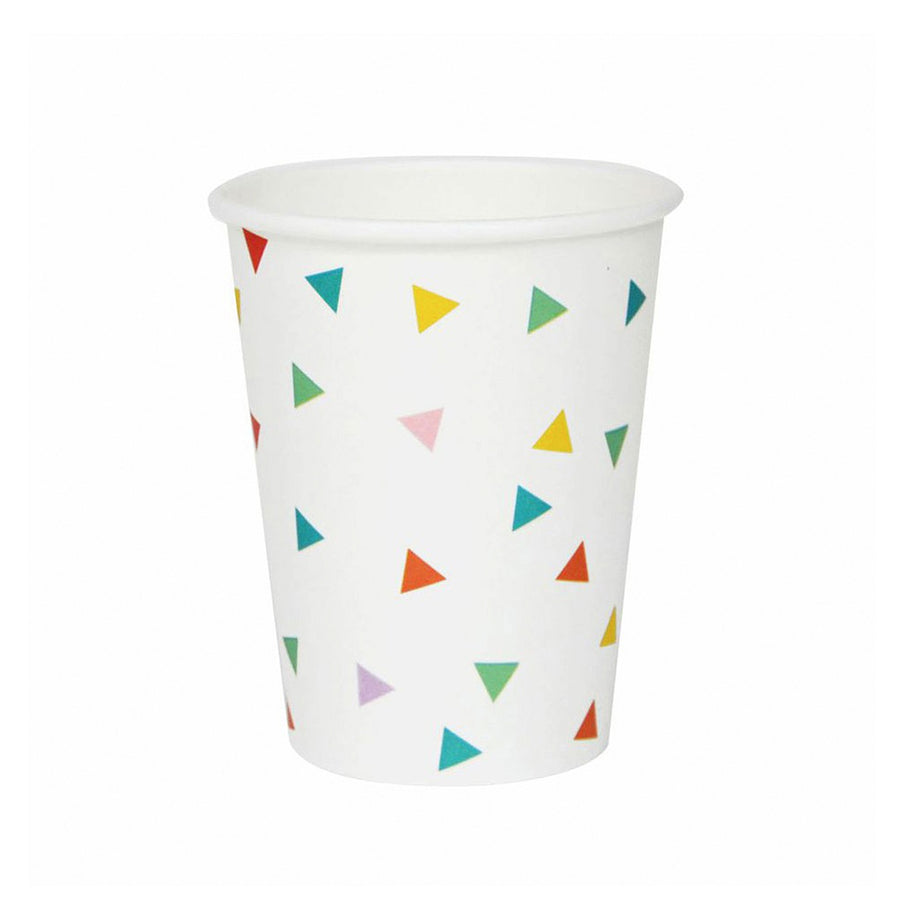 Rainbow Triangles Paper Cups / Set of 8