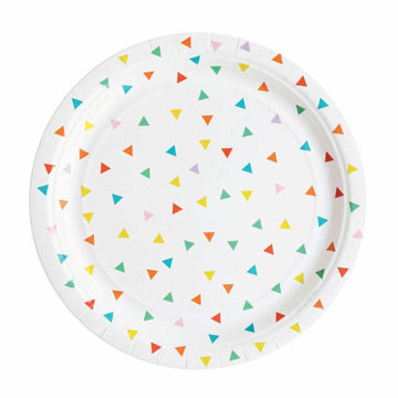Rainbow Triangles Paper Plates / Set of 8