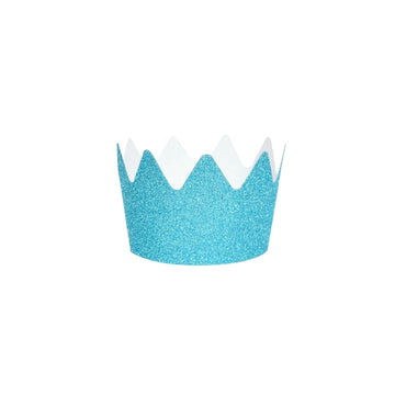 Glitter Crowns / Blue / Set of 8