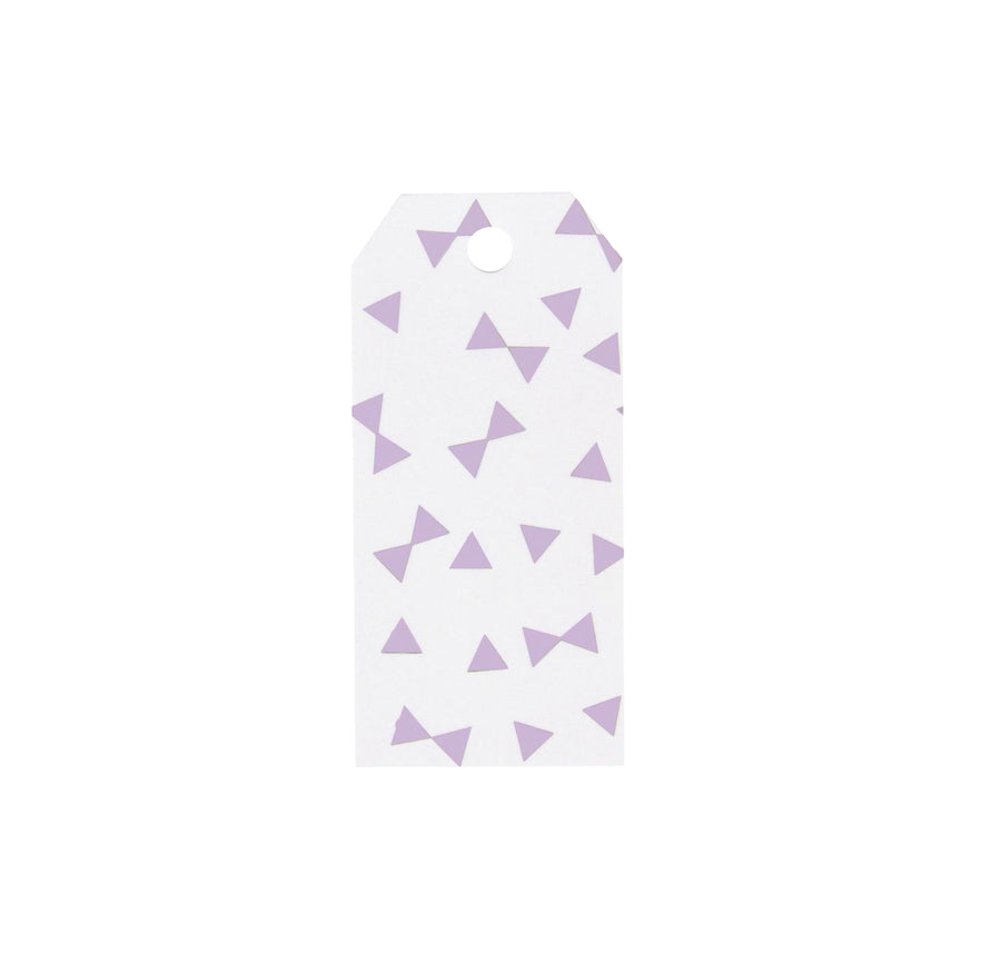 Lavender Bow Ties Gift Tags / 12 Pack