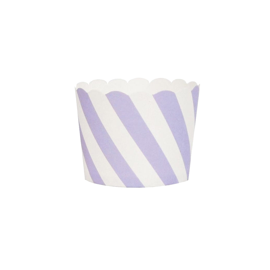 Lavender Stripes Cupcake Liners / Pack of 25