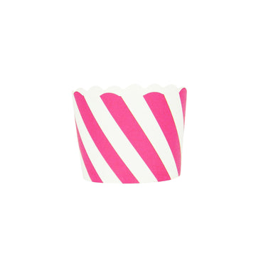 Hot Pink Stripes Cupcake Liners / 25