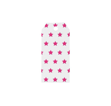 Pink Stars Gift Tags / 12 Pack