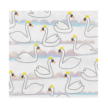 Swan Paper Napkins / Set of 16