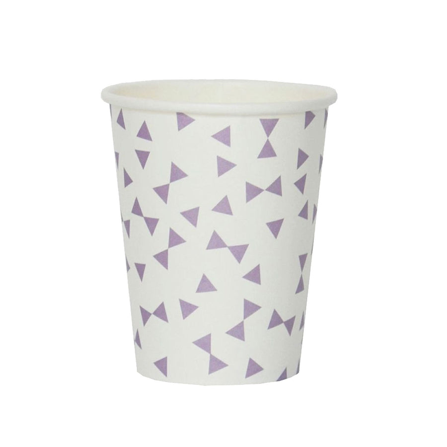 Lavender Bow Ties Paper Cups / Set of 8
