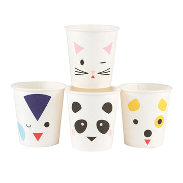 Mini Animals Paper Cups / Set of 8