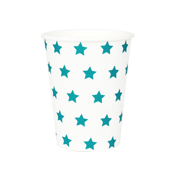Blue Stars Paper Cups / Set of 8