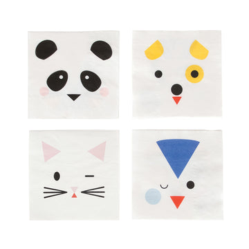 Mini Animals Paper Napkins / Set of 20