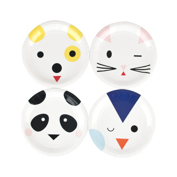 Mini Animals Paper Plates / Set of 8