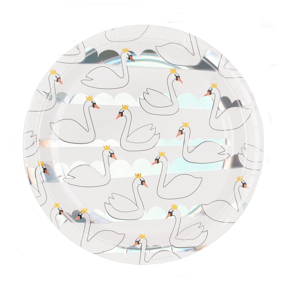Swan Paper Plates / Set of 8