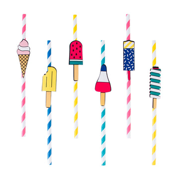 Ice Cream Paper Straws / Set of 12