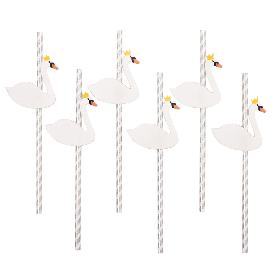 Swan Paper Straws / Set of 12