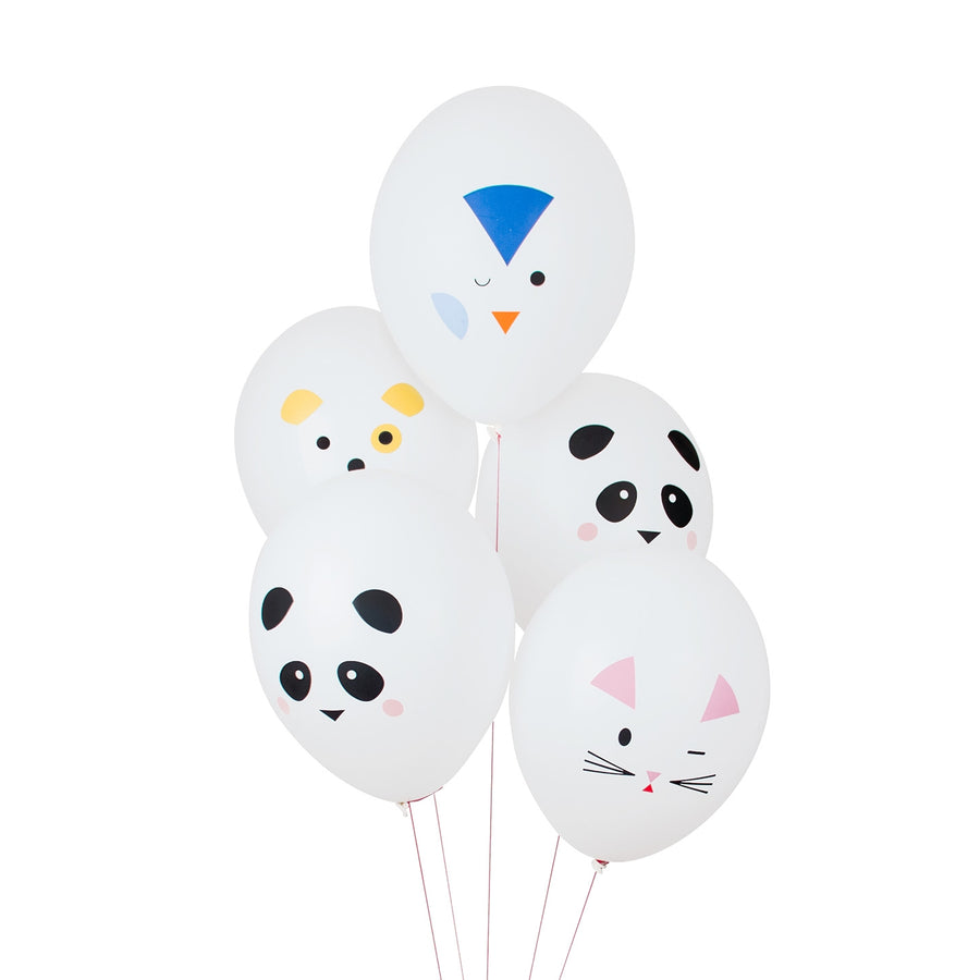 Mini Animals Tattooed Balloons / Set of 5