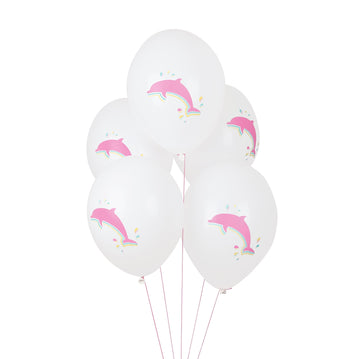 Dolphin Tattooed Balloons / Set of 5