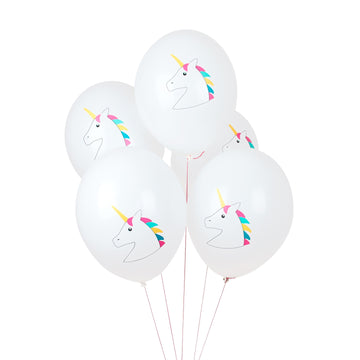 Unicorn Tattooed Balloons / Set of 5