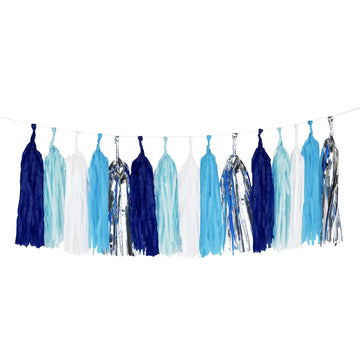 Blue Tassel Garland Kit