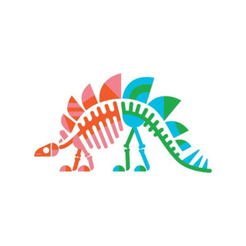 Stegosaurus Fossils Temporary Tattoo / Set of 2