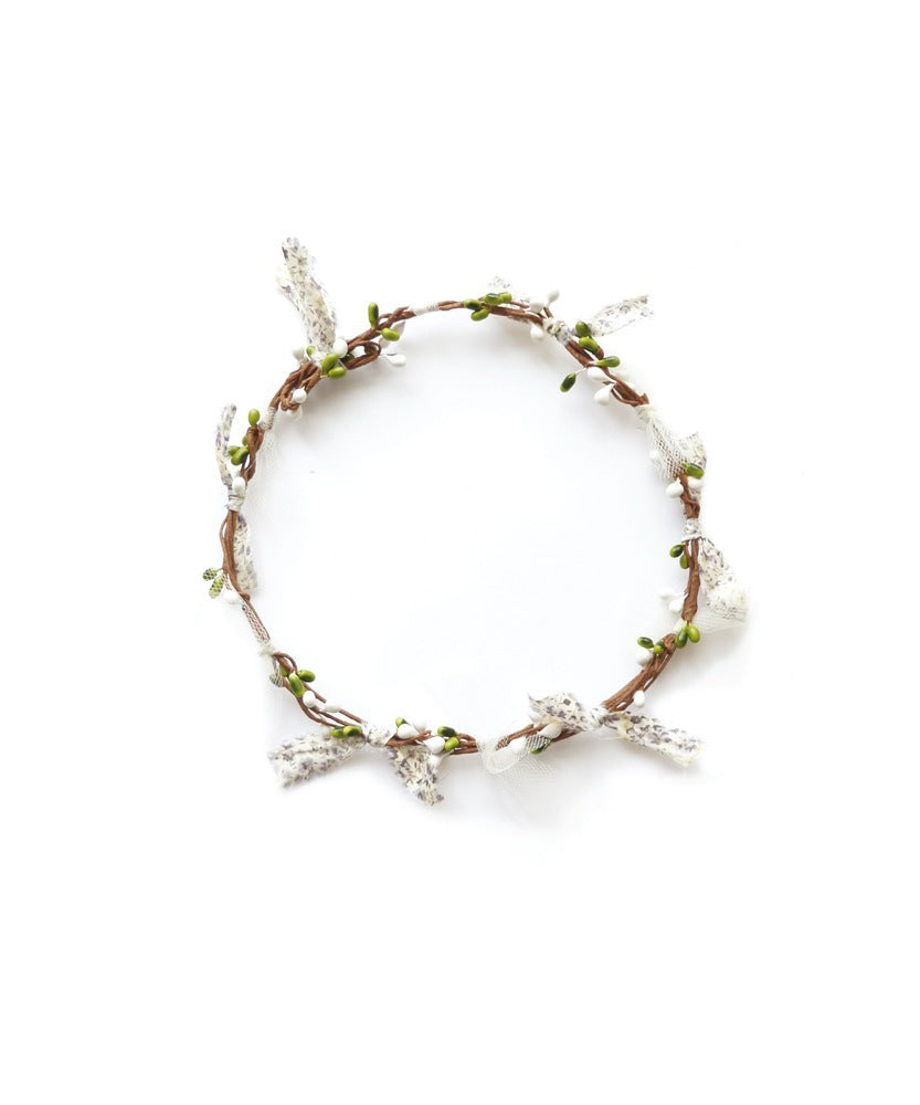 Flower Garland / White